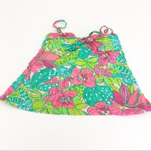Lily Pulitzer Tankini turquoise green pink floral